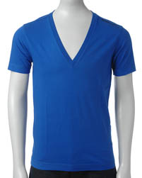 Ensfarvede Energie t shirts med dyb v neck